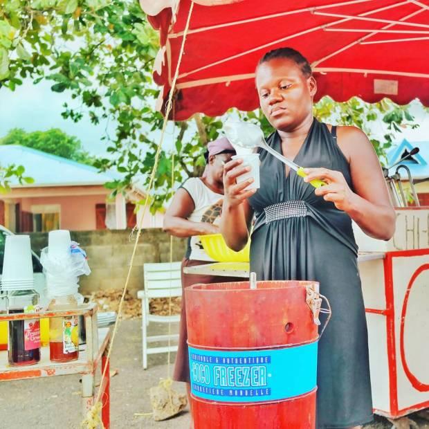 Glace au coco a la mode gwada